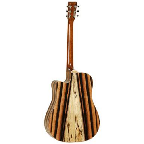 <p>In stock and ready to ship at MorMusic</p><p>Seen it cheaper elsewhere? We'll aim to match or beat any like for like price!</p><p>A lot of guitars can look very similar from the front. The real test for an instruments cosmetic is when you turn them round and look at the back. Inspired by Italian marquetry techniques, the Java guitars have an Amara Ebony back and sides with a contrasting strip of Spalted Mango timber defining the back of the instrument and making the Java series really stand out from the crowd. Models come in Parlour, Dreadnought and Super Folk fitted with Fishman Presys EQ systems and Solid Canadian Cedar tops.</p> <ul> <li><span>SHAPE:</span>&nbsp;Dreadnought Cutaway</li> <li><span>TOP:</span>&nbsp;Solid Cedar</li> <li><span>BACK:</span>&nbsp;Amara/Spalt Mango</li> <li><span>SIDES:</span>&nbsp;Amara</li> <li><span>NECK (MATERIAL):</span>&nbsp;Nato</li> <li><span>FINGERBOARD:</span>&nbsp;Techwood</li> <li><span>BRIDGE:</span>&nbsp;Techwood</li> <li><span>BINDING:</span>&nbsp;Mahogany</li> <li><span>SADDLE:</span>&nbsp;PPS, Compensating</li> <li><span>NUT (WIDTH):</span>&nbsp;PPS (43mm)</li> <li><span>SCALE LENGTH:</span>&nbsp;650mm</li> <li><span>MACHINE HEADS:</span>&nbsp;Open Back Nickel Vintage</li> <li><span>FINISH:</span>&nbsp;Natural Gloss</li> <li><span>EQ:</span>&nbsp;Fishman Sonitone&nbsp;/ Fishman Presys</li> <li><span>STRINGS:</span>&nbsp;D&rsquo;Addario EXP16</li> <li><span>SKU:</span>&nbsp;TWJDCE</li> <li><span>RANGE:</span>&nbsp;Java</li> <li><span>UPC:</span>&nbsp;810944017855</li> </ul> <p><span>Dimensions:</span></p> <ul> <li>UPPER BOUT WIDTH: 289mm</li> <li>LOWER BOUT WIDTH: 394mm</li> <li>WAIST WIDTH: 269mm</li> <li>BODY DEPTH (TOP): 105mm</li> <li>BODY DEPTH (BOTTOM): 120mm</li> <li>BODY LENGTH: 505mm</li> <li>TOTAL LENGTH: 1022mm</li> </ul>