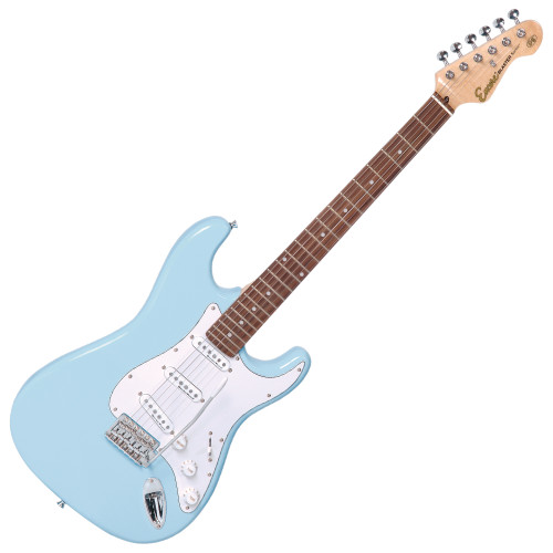 <p>In stock and ready to ship at MorMusic</p><p>Seen it cheaper elsewhere? We'll aim to match or beat any like for like price!</p><div>The firm favourite with guitar players the world over, the twin cutaway body shape of the Encore E6 Blaster has been carefully dimensioned by Trev Wilkinson to be as comfortable, ergonomic and balanced as possible so it plays like a dream and produces those so-classic tones.</div>