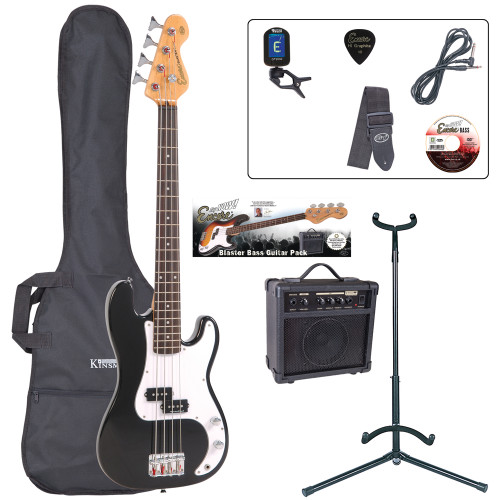 <p>In stock and ready to ship at MorMusic</p><p>Seen it cheaper elsewhere? We'll aim to match or beat any like for like price!</p><p>If a full, long scale bass guitar is just too much to manage, the superb new 7/8 size Encore E20 is the perfect answer. The E20 allows younger players and players with smaller hands to experience all the feel, sound and excitement of playing bass guitar åÐ with none of the hassle!</p> <p>Outfit Inludes: Encore E20 Bass Guitar, Kinsman 10 Watt Bass Amp, Tuner, Carry Bag, Guitar Stand, Lead, Strap, Tutorial DVD and Plectrum.</p>