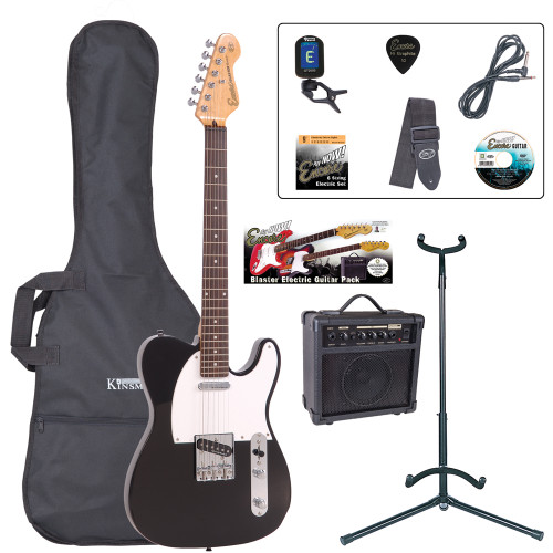 <p>The Encore E2 Blaster Pack gets you straight into the action with loads of great guitar tones from rock to country – all ready to happen! The E2 is especially for those who love rock, blues, and country-based guitar sounds, and indie, and reggae... and even jazz... this is one versatile guitar!</p> <p><b>Contents</b></p> <li>Encore E2 Electric Guitar </li> <li>Kinsman 10 Watt Rehearsal Guitar Amp </li> <li>Guitar Tech Tuner </li> <li>Kinsman Carry Bag </li> <li>Kinsman Guitar Stand </li> <li>Kinsman Guitar Lead </li> <li>Guitar Tech Guitar Strap </li> <li>Encore Tutorial DVD </li> <li>Spare Set of Strings </li> <li>Plectrum </li> <li>Tutor Listing </li>