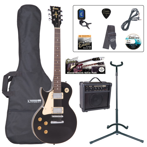 <p>In stock and ready to ship at MorMusic</p><p>Seen it cheaper elsewhere? We'll aim to match or beat any like for like price!</p><p>Born to rock, rampage and rip it up, the Encore E99 makes for an exciting choice as a first 'serious' rock guitar! The legendary classic rock single cutaway guitar shape in a pack åÐ AWESOME! Born to rock, rampage and rip it up, the Encore E99 makes for an exciting choice as a first 'serious' rock guitar!</p> <p><b>Contents</b></p> <li>Encore E99 Electric Guitar</li> <li>Kinsman 10 Watt Rehearsal Guitar Amp</li> <li>Guitar Tech Tuner</li> <li>Kinsman Carry Bag</li> <li>Kinsman Guitar Stand</li> <li>Kinsman Guitar Lead</li> <li>Guitar Tech Guitar Strap</li> <li>Encore Tutorial DVD</li> <li>Spare Set of Strings</li> <li>Plectrum</li> <li>Tutor Listing</li>