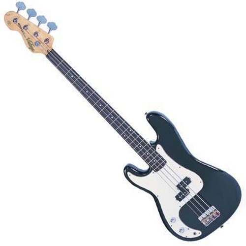 """<p>In stock and ready to ship at MorMusic</p><p>Seen it cheaper elsewhere? We'll aim to match or beat any like for like price!</p><p><span>The Vintage V4 bass with the classic &lsquo;split coil&rsquo; pickup design, powered by Alnico V magnets for maximum low end tone, is very much in keeping with the authentic looks and feel of this style of versatile and capable left hand bass guitar. In Boulevard Black.</span></p> <ul> <li>Body: Eastern Poplar</li> <li>Neck: Hard Maple &ndash; Bolt On</li> <li>Scale: 34""""/864mm</li> <li>Frets: 20</li> <li>Neck Inlays: Pearloid Dot</li> <li>Tuners: Wilkinson&reg; WJBL200</li> <li>Bridge: Adjustable</li> <li>Pickups: Wilkinson&reg; BP x 1 (M) WBP</li> <li>Hardware: ChromeControls: 1 Volume/ 1 Tone</li> </ul> <p><span>So good, it should become the industry standard....</span></p> <p><span><span>&nbsp;</span></span></p>"""