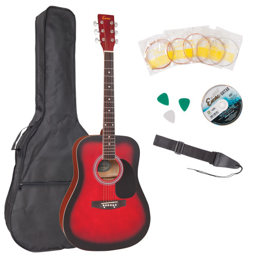 <p>In stock and ready to ship at MorMusic</p><p>Seen it cheaper elsewhere? We'll aim to match or beat any like for like price!</p><p>Encore acoustic guitars are expertly constructed, full size, big-sounding instruments. They offer a pleasantly crisp and bright tone with an impressive ringing sustain. Responsive and easy to play, they make an ideal instrument on which to begin learning guitar. </p><p>Outfit includes:</p><p>å¥ Encore Acoustic Guitar</p><p>å¥ Satin Finish</p><p>å¥ Guitar Carry Bag</p><p>å¥ Guitar Strap</p><p>å¥ Plectrums</p><p>å¥ Pitch Pipe</p><p>å¥ Tutorial DVD</p><p>å¥ Spare Set of Strings</p><p><br></p><p><br></p>