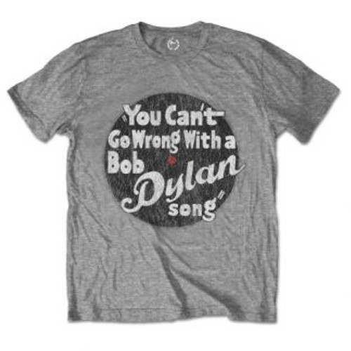 """<p>In stock and ready to ship at MorMusic</p><p>Seen it cheaper elsewhere? We'll aim to match or beat any like for like price!</p><div class=""""details_item_name""""> <h1>BOB DYLAN MEN'S TEE: YOU CAN'T GO WRONG</h1> </div> <div class=""""details_item_description"""">An official licensed men's cotton Tee featuring the Bob Dylan 'You can't go wrong' design motif. This high quality garment is available in a grey colourway</div>"""