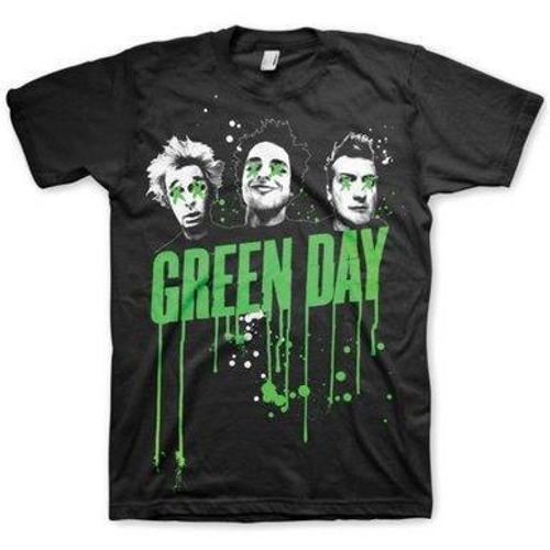 <p>In stock and ready to ship at MorMusic</p><p>Seen it cheaper elsewhere? We'll aim to match or beat any like for like price!</p><p>Officially licensed&nbsp;<span>Green Day Mens T-Shirt in Black Cotton. Incorporating a Green Day Drips design</span></p>