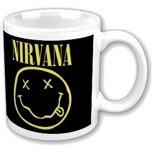 <p>In stock and ready to ship at MorMusic</p><p>Seen it cheaper elsewhere? We'll aim to match or beat any like for like price!</p><h1>NIRVANA BOXED STANDARD MUG: SMILEY</h1> <p><span>Nirvana 11oz (approx 320 mls) Boxed Standard Mug in White ceramic and featuring the 'Nirvana Smiley' design motif. Comes gift packaged in a co-ordinated box</span></p>
