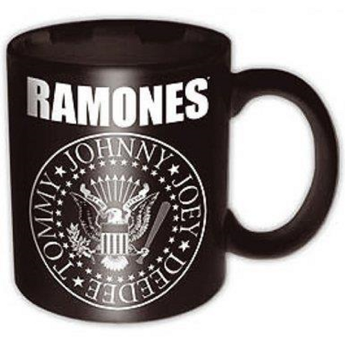 <p>In stock and ready to ship at MorMusic</p><p>Seen it cheaper elsewhere? We'll aim to match or beat any like for like price!</p><p><span>Ramones 11oz (approx 320 mls) Boxed Standard Mug in Black ceramic and featuring the 'Ramones Presidential Seal' design motif. Comes gift packaged in a co-ordinated box</span></p>