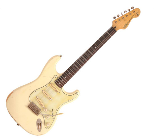"<p>In stock and ready to ship at MorMusic</p><p>Seen it cheaper elsewhere? We'll aim to match or beat any like for like price!</p><p><span style=""font-family: arial; font-size: small;"">Over recent years, many guitar enthusiasts have admired the virtuosic electric guitar style of Thomas Blug, one of Europe&rsquo;s most respected players. With its battle-scarred body, custom electronics and personalised switching all added to the already exceptionally well-specc&rsquo;d Vintage&reg; ReIssued Series&trade; V6 guitar, players looking for an edge with this iconic design, and who also perhaps aspire to emulate Thomas&rsquo; spine- tingling sound, can now buy exactly the same instrument which he uses in his day-to-day work.<br />&ldquo;Outstanding&rdquo;, comments Thomas on his Vintage V6 Signature Model, which we&rsquo;ve all come to refer to as the &ldquo;ElastaPlastaBlugaCasta&rdquo; in reference to the first ever sample the Vintage team showed me 4 years ago, with the brand name covered by a Band-Aid&reg;. &ldquo;To achieve all this, in an instrument which literally anyone can afford, even a first time buyer, is an unbelievable achievement. Working closely with Trev Wilkinson to translate every subtle part of my guitar has been a labour of love.&rdquo;<br />&ldquo;Working with the Vintage&reg; team has proven that there are still people in the commercial side of our business who are total &lsquo;guitar heads&rsquo; and who really do care about producing honest instruments without compromise,&rdquo; continues Thomas. &ldquo;Getting the best guitars into players&rsquo; hands without emptying their wallets and bank accounts! Quite amazing.&rdquo; <br /><strong>Specifications:</strong>&nbsp;</span></p> <ul> <li>Body: Alder</li> <li>Neck: Hard Maple &ndash; Bolt On</li> <li>Tuners: Wilkinson&reg; Deluxe WJ55D EZ-Lok&trade;</li> <li>Vibrato: Wilkinson&reg; WVCD</li> <li>Scale: 25.5&rdquo;/648mm</li> <li>Pickups: Wilkinson&reg; single coil x 3 aged ivory&nbsp;</li> <li>Controls: 1 Volume, 2 Tone, 5-Way Selector</li> <li>Scratchplate: 3-ply distressed</li> <li>Hardware: Nickel</li> </ul> <div id=""tabs-6"" class=""ui-tabs-panel ui-widget-content ui-corner-bottom ui-tabs-hide"">&nbsp;</div>"