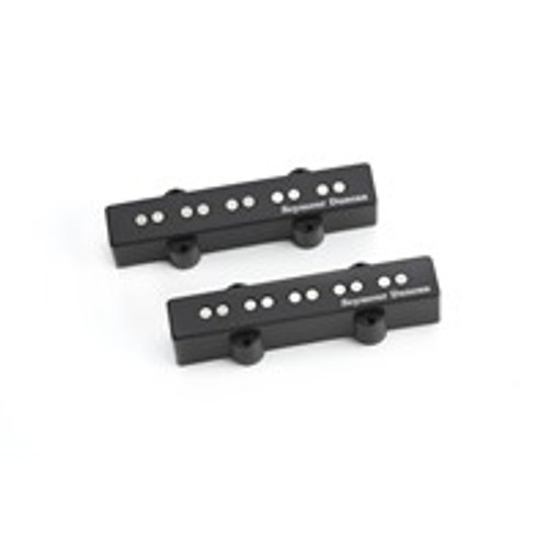 <p>In stock and ready to ship at MorMusic</p><p>Seen it cheaper elsewhere? We'll aim to match or beat any like for like price!</p>Summary Active 5-string Jazz Bass pickup set with an even voicing, and increased output. Description For those looking to move to an active J pickup configuration, this is the place to begin. The neck pickup blends definition and punch in one powerful pickup with a brilliant response and clarity to a low B. Blend this pickup with the bridge model for the complete package and a new tonal palette for your 5-string. A fully discrete, ultra quiet, 9-volt preamp delivers low impedance output with excellent dynamic range. These pickups use blades instead of individual pole pieces, and so they can be used for both 4-string and 5-string Jazz Basses. They will accommodate string spacings up to 3.10? (78.7mm) for bridge pickup and 3.00? (76.2mm) for neck pickup. NOTE these are traditional sized 5-string Jazz Bass pickups and will not retrofit Fender Jazz V models.Hand built in Santa Barbara, CA, our Active 5-String Jazz Bass pickups use a ceramic bar magnet, and come with a 3-conductor lead wire.