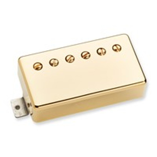 Summary Standard size, standard mount humbucker that produces a full-bodied tone reminiscent of the original humbuckers designed by Seth Lover in the 50s.  Description The Benedetto P.A.F. is a full sounding humbucker that delivers smooth, fat Jazz tone. This pickup mounts with a standard humbucker mounting ring, and while it is intended for use in the neck position, it works nicely as a bridge pickup as well. Its 8k DC resistance, and alnico 5 bar magnet give a full low end that is balanced by a nice even treble response. Hand built in Santa Barbara, CA, the Benedetto P.A.F. uses an alnico 5 bar magnet, 4-conductor lead wire, and is available with either a gold cover or a black nickel cover.