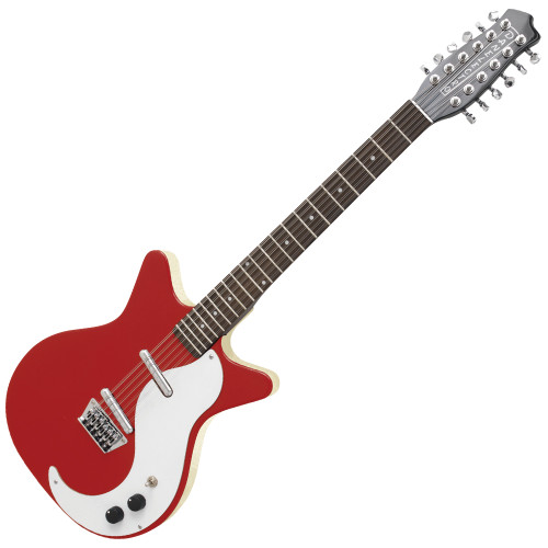 <p>In stock and ready to ship at MorMusic</p><p>Seen it cheaper elsewhere? We'll aim to match or beat any like for like price!</p><p>This 12 string guitar by Danelectro features the signature Lipstick pickups first made by founder Nathan Daniels in 1947 - Masonite body and chrome hardware</p>
