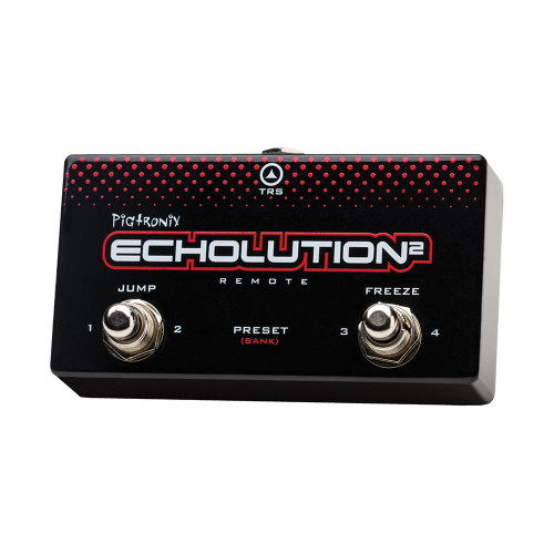 <p>In stock and ready to ship at MorMusic</p><p>Seen it cheaper elsewhere? We'll aim to match or beat any like for like price!</p><p>Footswitch compatible with the Pigtronix Echolution 2 and Pigtronix Echolution 2 Deluxe.&nbsp; Instant access to top 4 E2 presets in each bank of Echolution 2/Deluxe.&nbsp; Bank up and down.&nbsp; Jump function.&nbsp; Freeze function.&nbsp; No power required.&nbsp; Includes TRS cable</p>