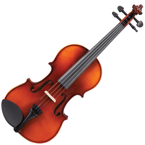 <p>Perfect for new players. Preferred by educators.</p> <p>The Antoni'Debut' violin series is the ideal instrument, for beginners of all ages.</p> <p>Available as complete, ready to play outfits from full to eighth size in violin, the'Debut' range is designed to provide the student and educator with an instrument which can be trusted to be easy to play, satisfying to learn on, and to deliver performance and tone, consistently and reliably.</p> <p>The 'Debut' range, which also includes Cello and Double Bass outfits is used and recommended by educators and has allowed countless students to take their first steps.</p> <p>Antoni'Debut' Violin Outfit</p> <ul> <li>Two-piece figured hand carved solid maple back</li> <li>Solid maple ribs</li> <li>Double purfling</li> <li>Solid spruce hand carved table</li> <li>Satin finish maple neck with gloss finish scroll</li> <li>High gloss antique brown varnish</li> <li>Ebonised hardwood fingerboard and nut</li> <li>Ebonised hardwood tuning pegs</li> <li>Lightweight alloy tailpiece with integral adjustable fine tuners</li> <li>Ebonised hardwood endpin</li> <li>Dresden pattern ebonised hardwood chinrest</li> <li>Maple fitted bridge</li> <li>Round wood bow with white tip nickel silver winding and leather lapping fitted with natural white horse hair</li> <li>Decorative mounted ebonised hardwood frog with nickel silver ferrule, inlaid eye and screw</li> <li>Shaped 'nil-gravity' hard foam case with integral cover incorporating large external music pocket and shoulder strap</li> <li>Emerald green plush lined fitted interior and lid with internal accessory pocket, twin bow holder and overlay cloth</li> <li>Rosin</li> </ul>