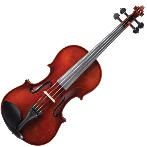 <p>An instrument which will prove its worth in any environment.</p> <p>The Antoni 'Premiere' provides a tonality, and playing feel redolent of more expensive instruments.</p> <p>With a traditional appearance, easy playability and rich tone, the 'Premiere' is a capable, and desirable instrument for the more serious student.</p> <p>Antoni 'Premiere' Violin Outfit</p> <ul> <li>Hand carved solid flame maple back</li> <li>Solid flame maple ribs</li> <li>Double inlaid purfling</li> <li>Hand carved, close grain spruce table</li> <li>Hand carved satin finish flame maple neck</li> <li>High gloss -moose nose brown'</li> <li>Ebony fingerboard and nut</li> <li>Ebony 'heart-style' tuning pegs with black pin and collar</li> <li>Lightweight alloy tailpiece with integral adjustable fine tuners</li> <li>Ebony end pin</li> <li>Ebony Guarneri pattern chinrest</li> <li>Selected maple fitted bridge</li> <li>Octagonal wood bow with white tip, nickel silver winding and leather lapped, fitted with natural white horse hair</li> <li>Decorative mounted ebony frog with nickel silver ferrule, decorative eye and inlaid screw</li> <li>Oblong 'nil-gravity' hard foam case with integral cover incorporating large external music pocket, double zip closure and double shoulder strap</li> <li>Deep blue plush lined fitted interior and lid with large internal accessory pockets and luxury overlay cloth</li> <li>Rosin cake</li> </ul>