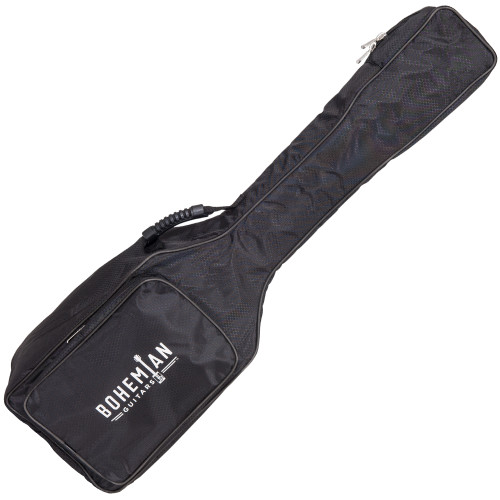 <p>In stock and ready to ship at MorMusic</p><p>Seen it cheaper elsewhere? We'll aim to match or beat any like for like price!</p><p>BOHEMIAN GUITAR GIG BAG - BLACK</p> <p>Protect your Bohemian Guitar with our custom made carry bag.&nbsp;</p> <p>&bull; Black honeycomb patterned heavy duty denier fabric&nbsp;<br />&bull; Padded for protection<br />&bull; Heavy Duty Zips<br />&bull; Accessory Pocket<br />&bull; Adjustable shoulder strap<br />&bull; Flexible comfort handle</p>