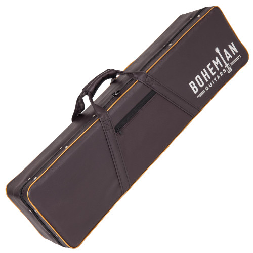 <p>In stock and ready to ship at MorMusic</p><p>Seen it cheaper elsewhere? We'll aim to match or beat any like for like price!</p><p>BOHEMIAN HARD CASE - BLACK/BROWN - BASS</p> <p><span>Protect your Bohemian Bass with our custom hard case made specifically for your Boho.&nbsp;</span><br /><span>&bull; Brown Leatherette Exterior</span><br /><span>&bull; Gold Piping</span><br /><span>&bull; Black plush interior</span><br /><span>&bull; Internal Accessory Compartment</span><br /><span>&bull; Heavy Duty Zip</span><br /><span>&bull; Flexible comfort carry handles</span><br /><span>&bull; Bohemian logo</span></p>