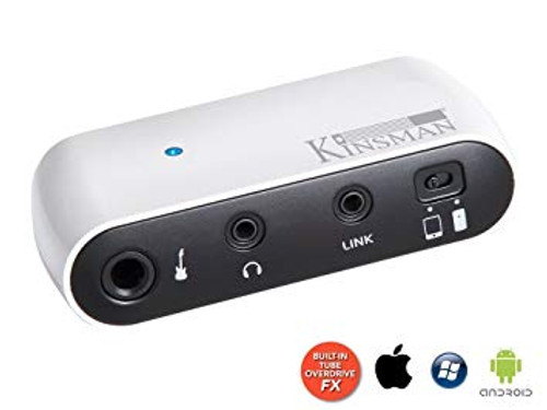<p>In stock and ready to ship at MorMusic</p><p>Seen it cheaper elsewhere? We'll aim to match or beat any like for like price!</p><p>KINSMAN MINI GUITAR AMPLIFIER</p> <p><span>Guitar headphone amp with built-in tube overdrive effects Volume, tone and gain (drive) controls Serves as a mini audio card when connected to smart devices such as IOS devices like iPhone , iPad , iPod , Android /Windows phones with your favourite effects apps downloaded from app stores 6.35mm mono instrument jack socket 3.5mm 4-pin jack input for connecting your Apple devices (inc.) (an adaptor is required for Android or Windows devices) 3.5mm stereo headphone jack socket Powered by two AAA batteries (included) Weight 50g Dimensions: 92mm (L) x 45mm (W) x 24mm (H).</span></p>