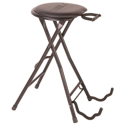 <p>In stock and ready to ship at MorMusic</p><p>Seen it cheaper elsewhere? We'll aim to match or beat any like for like price!</p>Guitarist's&nbsp;åÔDual-StoolåÕ<div><br>å¥ Combination instrument stand and stool <br>å¥ Ideal for home, stage or shop use <br>å¥ Portable and lightweight <br>å¥ Folds flat for transportation and storage <br>å¥ Suitable for most electrics, acoustics &amp; basses <br>å¥ Retractable neck cradle with safety catch <br>å¥ Padded seat, slightly angled for comfort <br>å¥ Foot rest for enhanced playing comfort and posture <br>å¥ Robust non-slip feet å¥ Excellent stability</div>