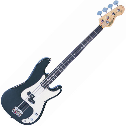 """<p>VINTAGE BASS GUITAR-BOULEVARD BLACK</p> <p>The heart of a good bass sound lies with the string anchoring, and the V4s bridge makes sure that's the way it stays. Face mounted and fully adjustable, the rear loaded strings pass over the V4's chunky brass bridge saddles for maximum bottom end tone</p> <p>&nbsp;</p> <h2>Features / Specifications:</h2> <ul> <li><strong>Body:</strong> Eastern Poplar</li> <li><strong>Neck:</strong> Hard Maple - Bolt On</li> <li><strong>Scale:</strong> 34""""/864mm</li> <li><strong>Frets:</strong> 20</li> <li><strong>Neck Inlays:</strong> Pearloid Dot</li> <li><strong>Tuners:</strong> Wilkinson&reg; WJBL200</li> <li><strong>Bridge:</strong> Adjustable</li> <li><strong>Pickups:</strong> Wilkinson&reg; PB x 1 (M) WPB</li> <li><strong>Hardware:</strong> Chrome</li> <li><strong>Controls:</strong> 1 x Volume/ 1 x Tone</li> </ul>"""
