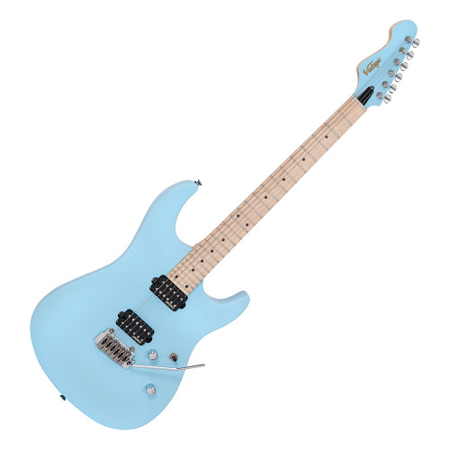 <p>In stock and ready to ship at MorMusic</p><p>Seen it cheaper elsewhere? We'll aim to match or beat any like for like price!</p><p>VINTAGE V6 24 ELECTRIC GUITAR - LAGUNA BLUE</p> <p>Designed with the needs of the modern player firmly in mind, the new V6M24 electric from Vintage is brimming with a host of features that can take you from the practice room to the world&rsquo;s stages.</p> <p>With an american alder body perfectly matched to a bolt-on maple neck and fingerboard, its 24 medium jumbo fretboard allows the player to comfortably access those high notes thanks to its contoured low-profile neck joint.</p> <p>Like all Vintage electrics, it comes as standard with Trev Wilkinson designed hardware and pickup. The VS50IIK Vibrato system can take some serious abuse and yet still return to pitch time after time, thanks to the added inclusion of Wilkinson WJ07LH E-Z-Lok machine heads. Meanwhile, the Wilkinson WHHB double-coil pickups provide tight bottom end and crisp highs, perfect for a variety of genres.</p>
