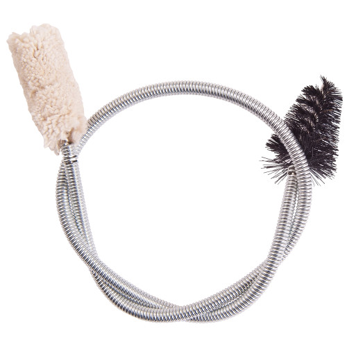 """Synthetic snake with bristle brush and natural cotton swab. 40cm/15 3/4""""."""