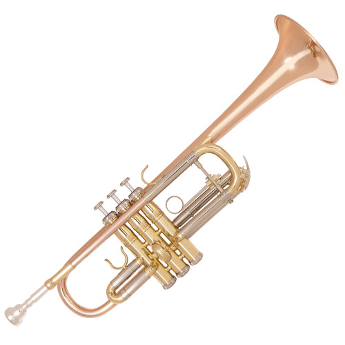 """<p>In stock and ready to ship at MorMusic</p><p>Seen it cheaper elsewhere? We'll aim to match or beat any like for like price!</p><div><strong>Specification</strong><br />&bull; Rose brass bell and lead pipe</div> <div>&bull; Cupronickel outer tuning slides</div> <div>&bull; Single braced main tuning slide</div> <div>&bull; Monel valves</div> <div>&bull; One water key</div> <div>&bull; Mouthpiece 7C inc</div> <div>&bull; Clear lacquer finish</div> <div>&bull; Bell diameter: 4.79""""/121.7mm</div> <div>&bull; Bore size: 0.46""""/11.73mm</div> <div>&bull; Zero-gravity &lsquo;backpack&rsquo; hard foam case Canvas covered, plush lined with shoulder straps</div> <div>&bull; Accessories Gloves, oil, cleaning cloth</div> <div>&bull; Includes additional tuning and valve slides to allow the trumpet to be tuned to Bb</div>"""