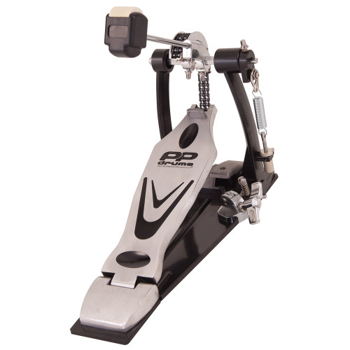 <p>In stock and ready to ship at MorMusic</p><p>Seen it cheaper elsewhere? We'll aim to match or beat any like for like price!</p>32mm and 25mm diameter steel tubing. Chain driven, 2pc footplate on a metal base with treated grip. Adjustable tension and side clamping mechanism. Retractable spikes. Double sided (felt/plastic) beater. These PP Drums stands have incredibly smooth action and rock solid clamping brackets so they won't let you down when you need it most! Large non-slip feet ensure your stands stay put under the heaviest use.