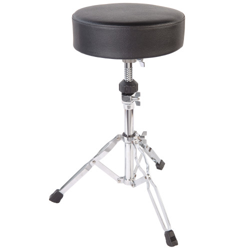"""<p>In stock and ready to ship at MorMusic</p><p>Seen it cheaper elsewhere? We'll aim to match or beat any like for like price!</p>32mm and 25mm diameter steel tubing. Double braced fully adjustable stool with 11.5"""" diameter & 3"""" thick padded seat. These PP Drums stands have incredibly smooth action and rock solid clamping brackets so they won't let you down when you need it most! Large non-slip feet ensure your stands stay put under the heaviest use."""