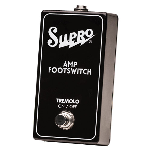 <p>In stock and ready to ship at MorMusic</p><p>Seen it cheaper elsewhere? We'll aim to match or beat any like for like price!</p><p>SUPRO SINGLE FOOTSWITCH TREMOLO ON/OFF REMOTE</p>