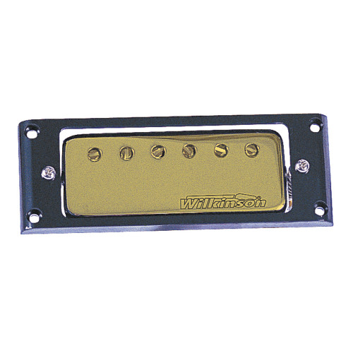 These versatile narrow field humbuckers, with Alnico V magnets, have a sound all of their own. The perfect cross between the high end of a single coil and the warmth of a humbucker, with the added bonus of -no noise'. Available with either chrome or gold cover options, complete with their own black collar surrounds.
