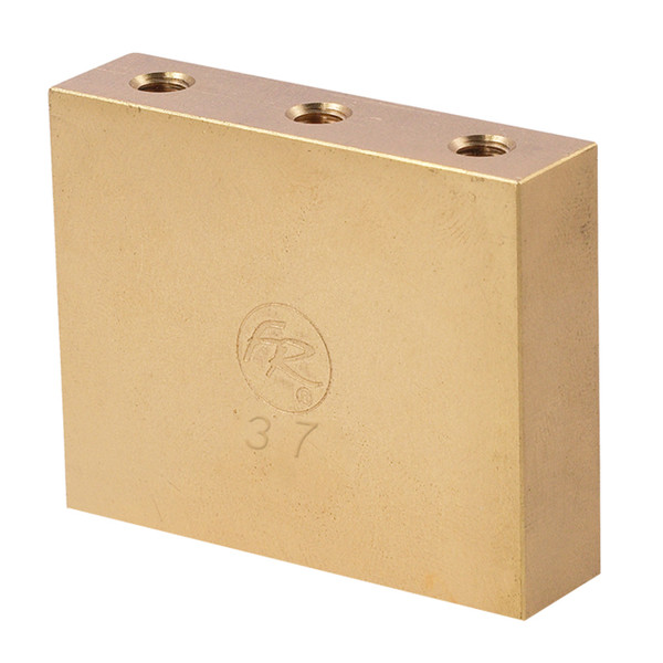 """<p>In stock and ready to ship at MorMusic</p><p>Seen it cheaper elsewhere? We'll aim to match or beat any like for like price!</p><p>This """"Fat"""" brass big block will add mass and sustain to your Floyd Rose bridge along with the tonal qualities of brass. Works with Floyd Rose Original, Non-Fine Tuner, 7-String*, 1000 Series*, and Special* tremolo systems. Width is 50.15 mm and thickness is 12.90 mm. Brass has been a much desired material for guitar luthiers dating back to the invention of the instrument; it is notorious for increasing warmth and clarity simultaneously, a rare combination. While greatly strengthening chord clarity and beefing up individual tones, it also greatly improves resonance, especially in the midrange of the instrument. All of these improvements are accompanied with the undeniably vintage sound and feel of this time-tested material. Since this block is larger than a conventional sustain block, it can also limit upward travel of the tremolo and can be set to rest against the body in a blocked bridge configuration. For floating bridge setup this block may require some routing in the spring cavity. *The Special 7-String Tremolo Systems have a sustain block mounting hole spacing which is unlike any of our other systems - for this reason, they can only function with their factory installed sustain blocks. These blocks will NOT function on the 1000 Series Pro 7-String!</p>"""