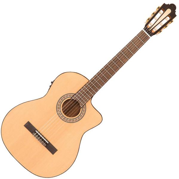 Santos Martinez Preludio Cutaway Electro-Classic Guitar - Natural Gloss