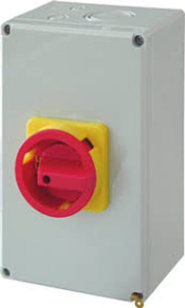 Plastic Enclosed Disconnect Switch 63amp 3 Pole