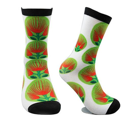 Christmas Gift Socks_Pohutukawa Flower