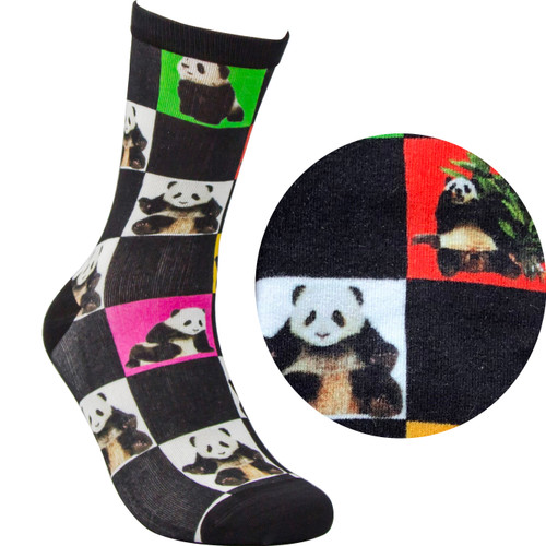 Bamboo socks - Panda Black
