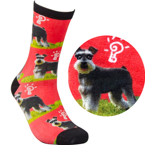 Bamboo Socks - Puppy red
