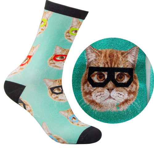 Bamboo Socks - Kitty blue