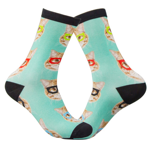 Digital Printed socks for cat lovers.