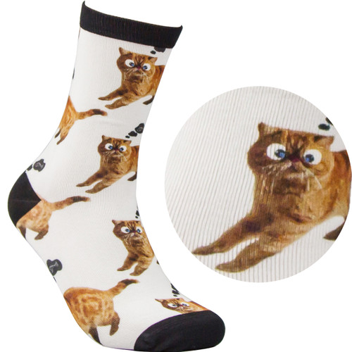 Bamboo Socks - Kitty White