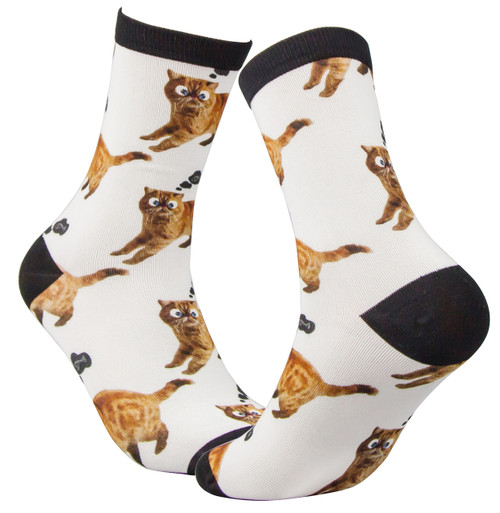 Digital Printed socks for cat lovers.