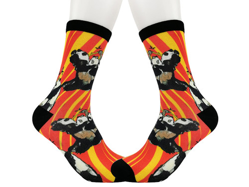 Digital Printed socks, Panda Series for Panda lovers.