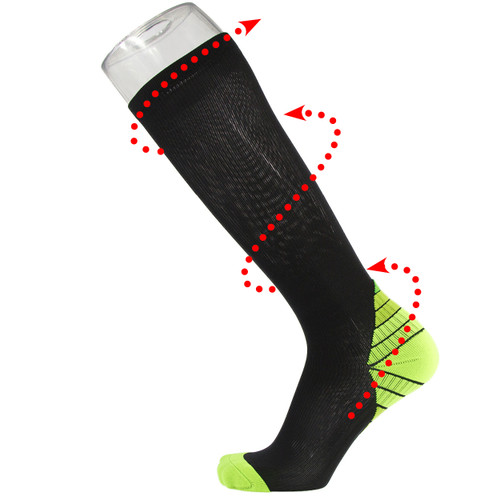 Graduated Compression Socks_Light Green