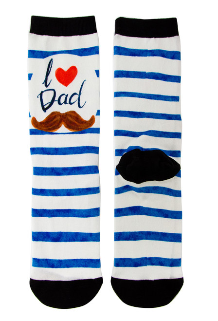 Gift Socks for Dad_love my Dad - moustache