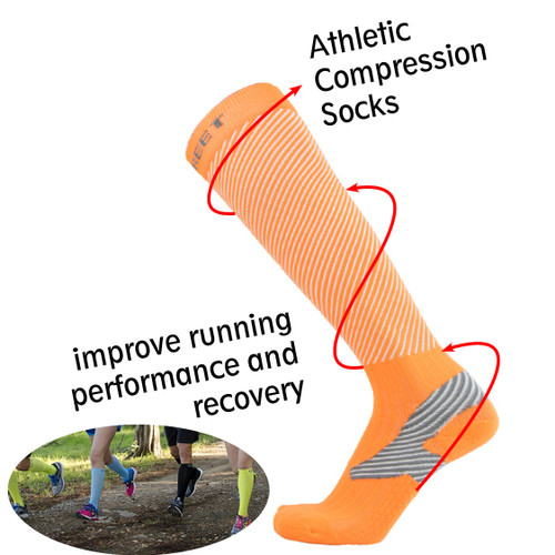 Athletic Compression Socks_Orange