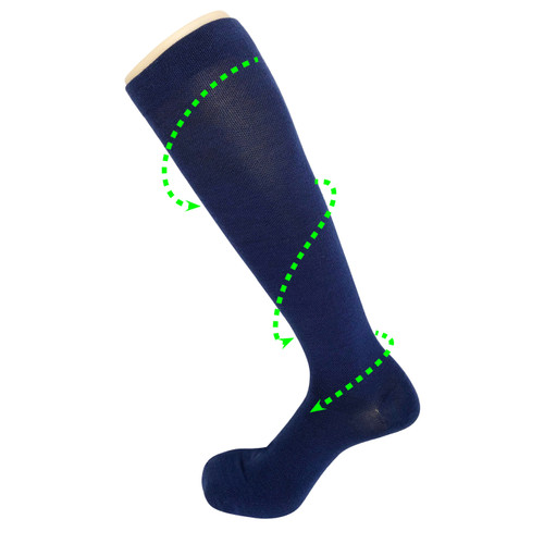 Recovery Compression Wool Socks_Navy