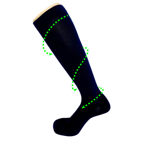 Recovery Compression Wool Socks_Black