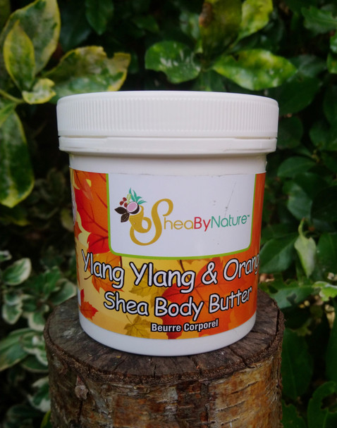 Ylang Ylang & Orange Body Butter with Organic Unrefined, Fair Trade Shea Butter. Intensive Therapy for Very Dry Skin 250g