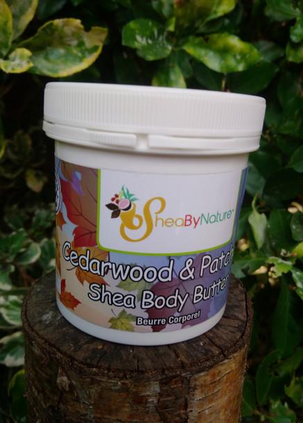 sheabynature cedarwood body butter.