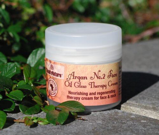 Argan No. 2 Face oil Glow Therapy Cream. Very Rich Moisturising and nourishing Face cream for dry skin, damaged skin, sun burn skin
