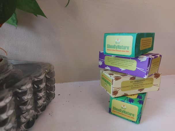 4 Bars of mixed pack Natural Shea Butter moisturizing soap